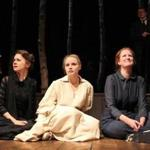 "Natalia Payne, Heather Wood, and Wendy Rich Stetson perform in ""Three Sisters."""