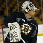 Tim Thomas and the Bruins return to the ice tonight as defending champions.