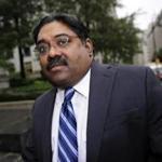 Raj Rajaratnam arrived at court in New York to hear his sentence.