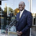 Republican presidential candidate Herman Cain spoke with the media after appearing on NBC's Meet the Press yesterday.