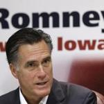Republican presidential hopeful, Mitt Romney, spoke yesterday at an economic roundtable in Treynor, Iowa.