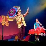 AndrewOberstein as the Whether Man (left) and Jeffrey Sewell as Milo in Wheelock Family Theatre's ''The Phantom Tollbooth.''