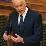 Greek Prime Minister George Papandreou addressed Socialist members of parliament in Athens Monday.