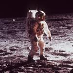 """On July 20, 1969, lunar module pilot Edwin """"Buzz'' Aldrin was the second man to set foot on the moon, after his Apollo 11 mission commander Neil Armstrong."""