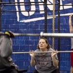 ''I was horrified in the beginning and crying like a baby,'' said Reebok executive Peggy Baker of her CrossFit classes. ''But I still come.''