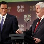 Mitt Romney and Newt Gingrich would consider the use of force to prevent Iran from gaining a nuclear weapon.