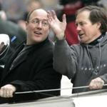 Bill Belichick and Scott Pioli (now the general manager for the Kansas City Chiefs) at the Super Bowl parade in Boston in 2005.