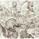 "Wendy Artin's 4-foot-high by 50-inch-wide watercolor ""Craggy Face'' at Gurari Collections."