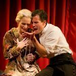 "Jeanine Kane and Tony Estrella in  ""Hamlet'' at the Gamm Theatre."