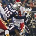 Mark Anderson and Andre Carter team up to sack Chiefs quarterback Tyler Palko in the second quarter.