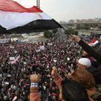 Prayers were held as more than 100,000 rallied in Cairo's Tahrir Square.