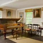 An 1864 Steinway is among the original furnishings of the Emerson family, who owned the house for nearly two centuries.