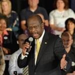 Republican presidential candidate Herman Cain speaks to supporters at The Magnolia Room at Laurel Creek, Friday, Dec. 2, 2011, in Rock Hill , S.C. (AP Photo/ Richard Shiro)