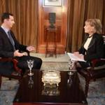 In this undated image provided by ABC, Syrian President Bashar Al-Assad speaks with ABC News Anchor Barbara Walters for an interview airing Wednesday, Dec. 7, 2011, on ABC. Assad denied he ordered the deadly crackdown on a nearly 9-month-old uprising in his country, claiming he is not in charge of the troops behind the assault. Speaking to Walters in a rare interview that aired Wednesday, he maintained he did not give any commands