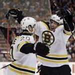 The Bruins are now tied with the Philadelphia Flyers atop the Eastern Conference.