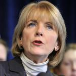 Massachusetts Attorney General Martha Coakley spoke at a news conference in Boston about a lawsuit against five major banks over deceptive foreclosure practices.