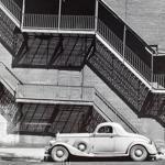 "The Todd Webb photos on display include ""Mr. Perkins Pierce Arrow, Harlem, N.Y."""