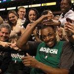 Paul Pierce and the Celtics got a rousing reception from fans when they held a practice at TD Garden before the season started.