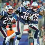 Patriots Antwaun Molden, Devin McCourty, and Patrick Chung appeared to walk on air following McCourty's interception against the Bills in the regular-season finale yesterday at Gillette Stadium.