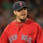 BOSTON, MA - SEPTEMBER 16: Josh Beckett #19 of the Boston Red Sox reacts after getting out of trouble in the fourth inning against the Tampa Bay Rays at Fenway Park September 16, 2011 in Boston, Massachusetts. (Photo by Jim Rogash/Getty Images)