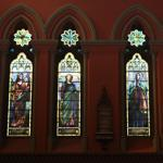 Windows at the Church of the Covenant depicted four women of the Bible. The one of Dorcas was broken.