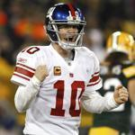 Quarterback Eli Manning and the New York Giants will face the San Francisco 49ers in the NFC title game next Sunday.