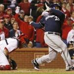 Prince Fielder took a swing against the St. Louis Cardinals.