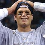 Tom Brady burst onto the NFL stage in 2001 when he relieved and injured Drew Bledsoe and then never let go of the starting job. Brady led the Patriots to their first championship that season.