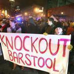 2-2-2012 Boston, Mass. Hundreds of people protest against Barstool Blackout Tour live concert being held at the House of Blues on Lansdowne Street Globe photo by Bill Brett
