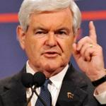 Newt Gingrich spoke at a press conference yesterday in Las Vegas.
