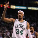 Paul Pierce passed Larry Bird to become the Celtics' second all time leading scorer on Tuesday.