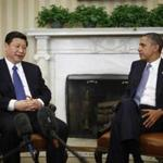 President Barack Obama met with China's Vice President Xi Jinping in the Oval Office today.