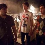 """From left: Jonathan Daniel Brown, Thomas Mann, and Oliver Cooper in """"Project X.''"""