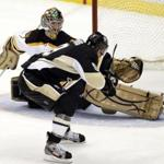 Pittsburgh's Pascal Dupuis scored against Marty Turco in the third period Sunday for the game's final goal as the Penguin's cruised to a 5-2 win.