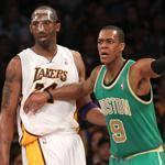 Celtics point guard Rajon Rondo had 24 points against Kobe Bryant the Lakers. He also had 10 assists.