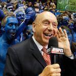 During the NCAA Tournament, Dick Vitale doesn't have the courtside seat he keeps during ESPN's regular-season access.