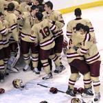 For Boston College players, the Hockey East tournament championship was something to celebrate for the third straight season.