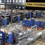 Kiva Systems' robots shuttled merchandise around a Gilt Groupe distribution center in Shepherdsville, Ky.
