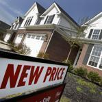 Newly-constructed homes are seen for sale with a new price in Pepper Pike, Ohio, on March 20, 2012.