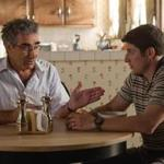 "Eugene Levy and Jason Biggs in ""American Reunion,"" the third sequel to ""American Pie."""