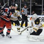 When Bruins goalie Tim Thomas is as sharp as he was on Sunday, the Bruins can go head to head with anybody, including the Rangers, the Eastern Conference's top club.