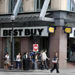 At the Best Buy on Newbury Street in Boston, staff turned away customers and gave them coupons to use at nearby locations.