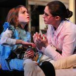 "Audree Hedequist as Helen and Brittany Rolfs as Annie in ""The Miracle Worker.''"