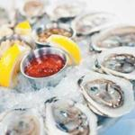 A selection of oysters on the half shell. Mare's rotating selection includes Wellfleets, Belons, Bagaduces, and more.