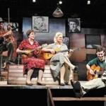 """Woody Sez"" stars (from left) Andy Teirstein, Darcie Deaville, Helen Jean Russell, and David M. Lutken as Woody Guthrie."