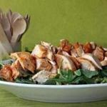 Chicken salad in spring greens with lemony dressing.
