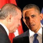 Barack Obama speaks with Turkish Prime Minister Recep Tayyip Erdogan in March.