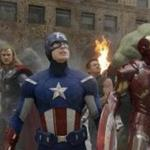 Superhero stars (from left) Scarlett Johansson, Chris Hemsworth, Chris Evans, Jeremy Renner, Robert Downey Jr. and Mark Ruffalo join together.
