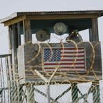 A guard tower in the Guantanamo Bay US Naval Base in Cuba.