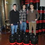 Tyler Mosher (left), Ben Manter, and Ross Brockman of Downeast Cider in Maine.
